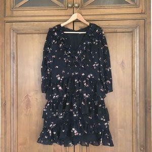 lulus 'growing affection' ruffled dress